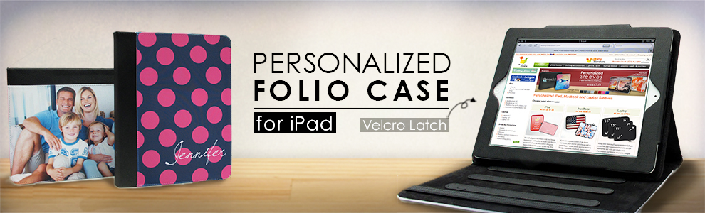 custom iPad folio case image
