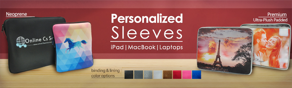 Personalized iPad, Macbook and Laptop Sleeves