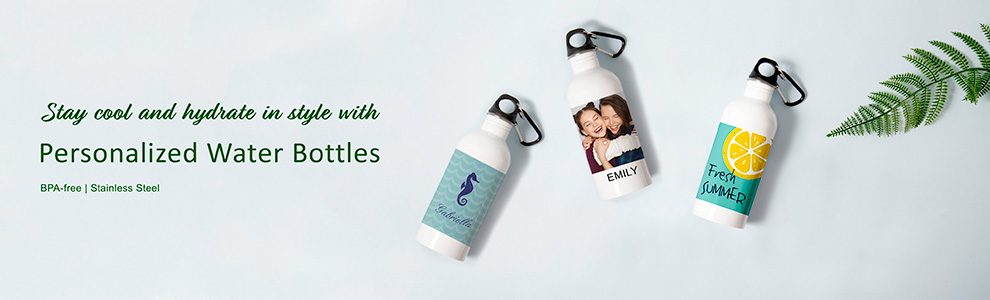 Personalized Photo Water Bottles