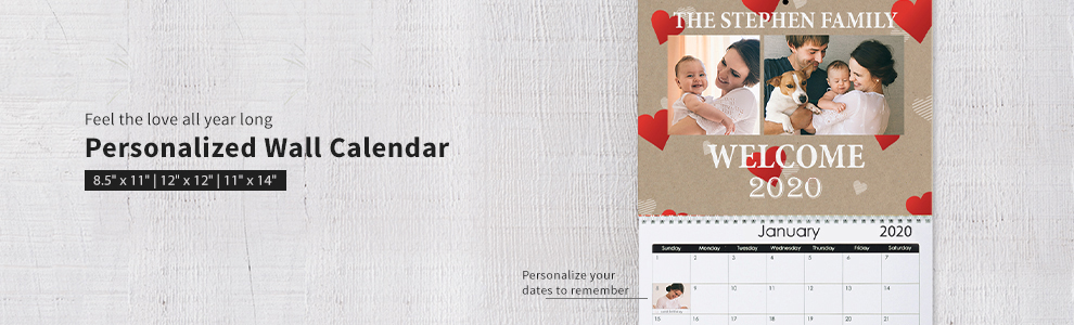 Personalized Photo Wall Calendars