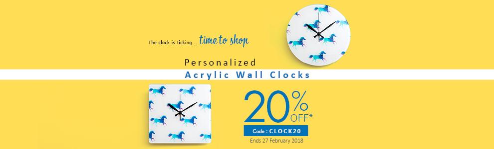Personalized Acrylic Wall Clocks