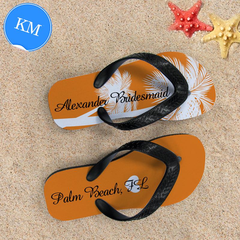 29e727b75 Personalized Flip Flops for Flower Girl (Kids  Medium)