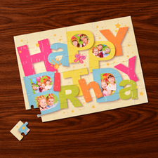 Custom Large Photo Jigsaw Puzzle, Birthday