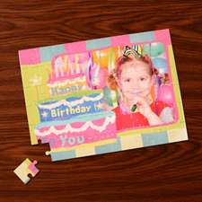Custom Large Photo Jigsaw Puzzle, Birthday Cake