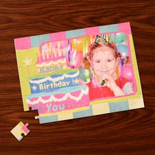 Custom Large Photo Jigsaw Puzzle, Birthday Cake