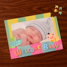 Custom Large Photo Jigsaw Puzzle, Baby Shower