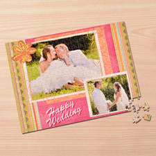 Custom Large Photo Jigsaw Puzzle, Wedding