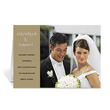 Timeless Gold Wedding Photo Cards, 5x7 Folded Modern