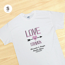 White Custom Lovestruck T-Shirt, S