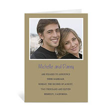 Timeless Gold Wedding Photo Cards, 5x7 Portrait Folded