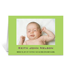 Lime Baby Photo Cards, 5x7 Folded