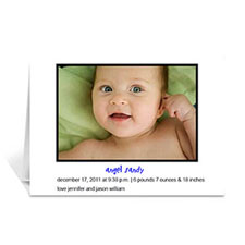Classic White Baby Photo Cards, 5x7 Folded