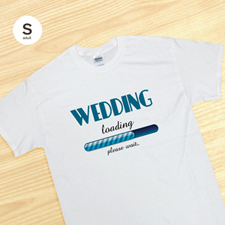Custom Wedding Loading, White Adult Small T Shirt