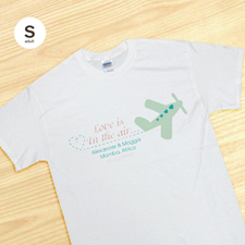 Custom Wedding Air Plane Personalized, Adult Small T Shirt
