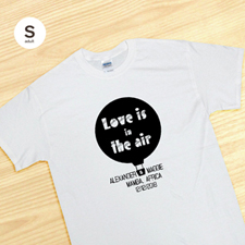 Custom Love Is In The Air, White Adult Small T Shirt