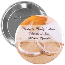 "Personalized Wedding Favors 3"" Round"