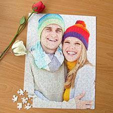 Custom Large Wedding Photo Jigsaw Puzzle, Vertical