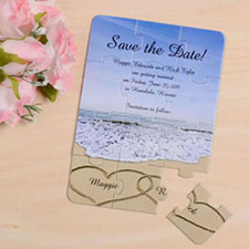 Special Save the Date Puzzle Card