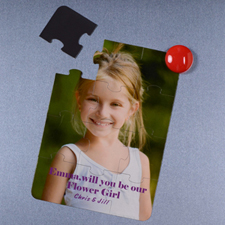 Will you be my Flower Girl Magnetic Puzzle Card