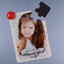 Personalized Magnetic Puzzle Card for Flower Girl
