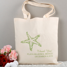 Personalized Green Starfish Beach Lover Wedding