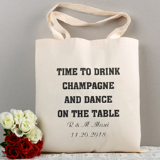 Personalized Message Wedding Tote