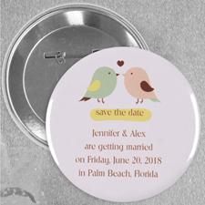 Monogram Love Birds Wedding