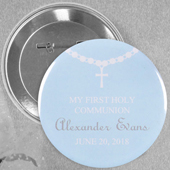 Circle Baby Boy Baptism Necklace