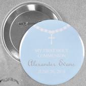 Circle Baby Boy Baptism Necklace