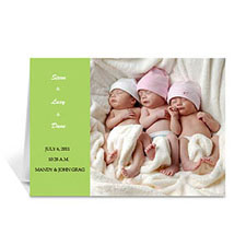 Lime Baby Photo Cards, 5x7 Folded Modern