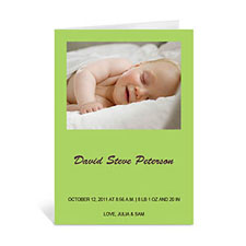 Lime Baby Shower Photo Cards, 5x7 Portrait Folded