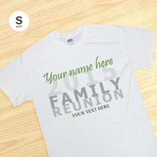 Custom Family Reunion White Adult Small T Shirt
