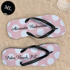 Custom Name Light Pink Polka Dot Men Large