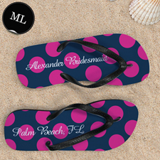 Dot Navy Pink Personalized Monogram, Men Large