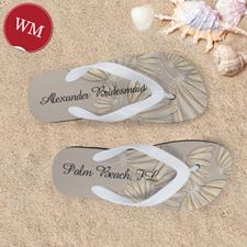 Create My Own Daisies Personalized Wedding Women Medium Flip Flop Sandals