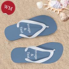 Create My Own One Landscape Image Women Medium Flip Flop Sandals