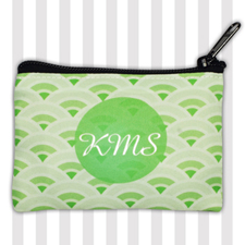Grass and Lime Monogram Fan