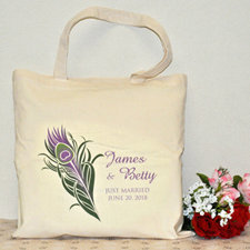 Peacock Wedding Theme Idea Wedding Favors Tote Bag