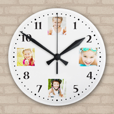 Precious Memories Photo Collage Acrylic Clock