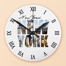 Roman Numeral Face Photo Acrylic Clock