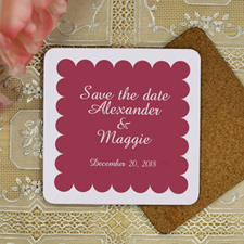 Burgundy Red Personalized Wedding Luxe Square