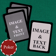 Poker Custom Cards (Blank Cards) Black Border