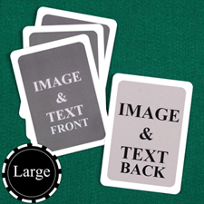 Large Size Custom Cards (Blank Cards) White Border