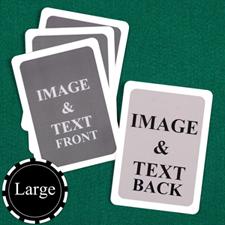 Large Size Custom Cards (Blank Cards) White Border