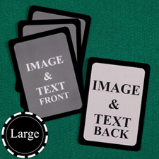 Large Size Custom Cards (Blank Cards) Black Border