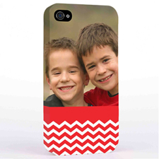 Red Chevron Pattern iPhone 4