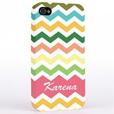 Colorful Stripes Chevron iPhone 4