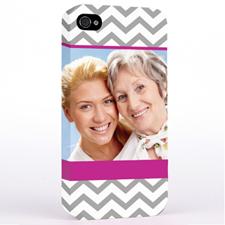 Hot Pink Chevron Design Photo iPhone 4