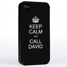 Black Keep Calm Slogan iPhone 4
