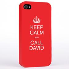 Red Keep Calm Slogan iPhone 4